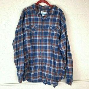 Columbia Omni Wick Shirt Mens XXL Plaid Flannel